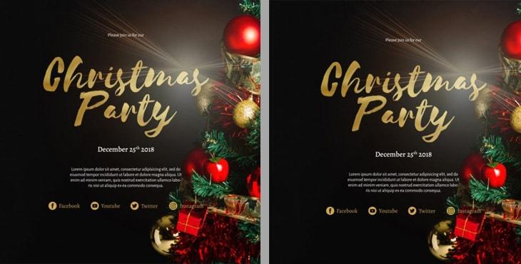 پوستر لایه باز کریسمس