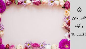 دانلود 5 کادر نوشته گل برای متن