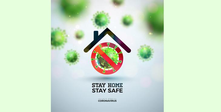در خانه بمانیم کرونا ویروس