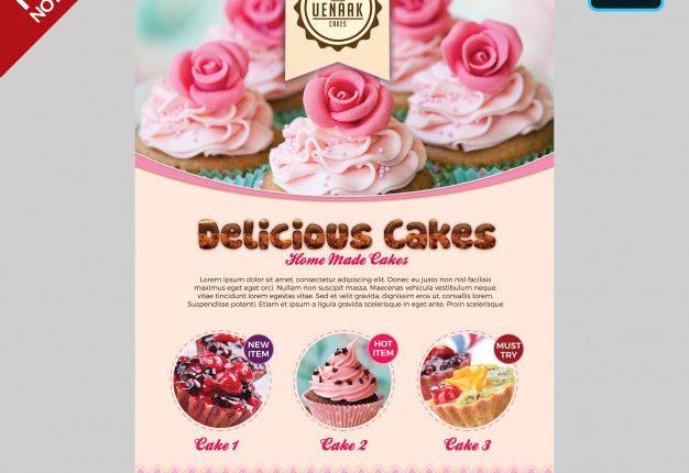 پوستر کیک و شیرینی لایه باز