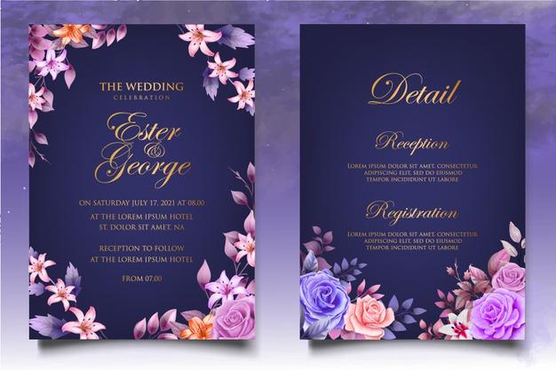 وکتور کارت دعوت عروسی