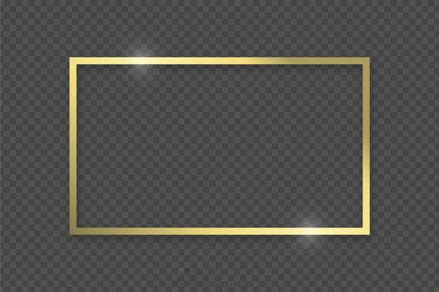 قاب طلایی لایه باز PNG